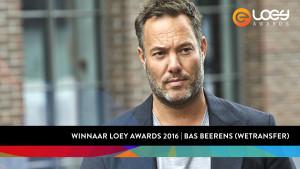 Bas Beerens (WeTransfer) wint LOEY Award 2016